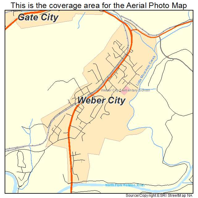 Weber City, VA location map
