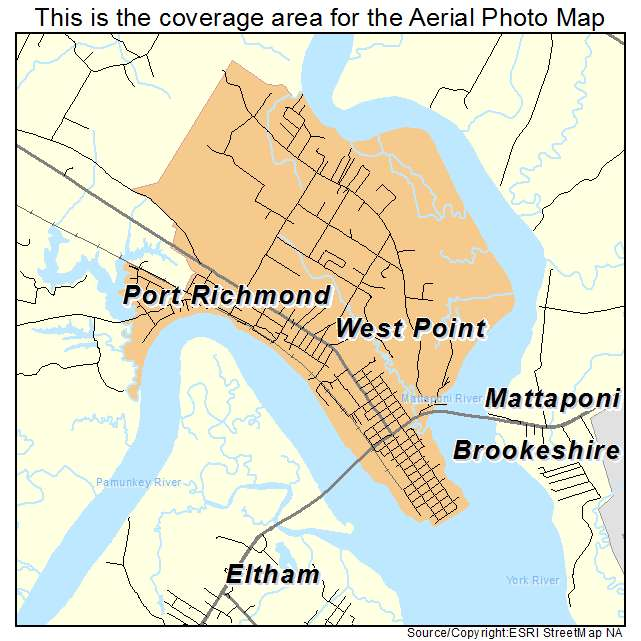 West Point, VA location map