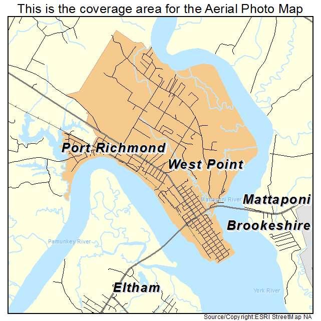 West Point, VA location map