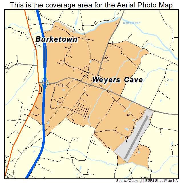 Weyers Cave, VA location map