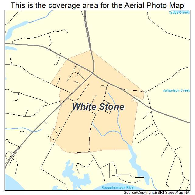White Stone, VA location map
