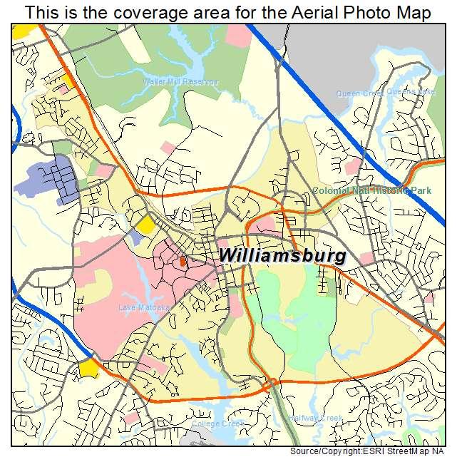 Williamsburg, VA location map