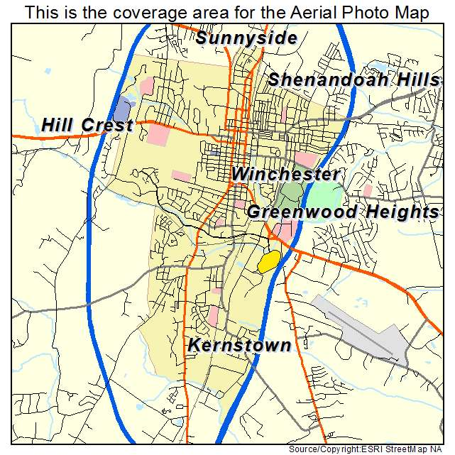 Winchester, VA location map