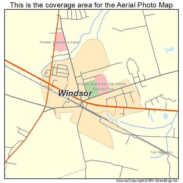 Windsor, VA location map
