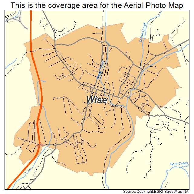 Wise, VA location map