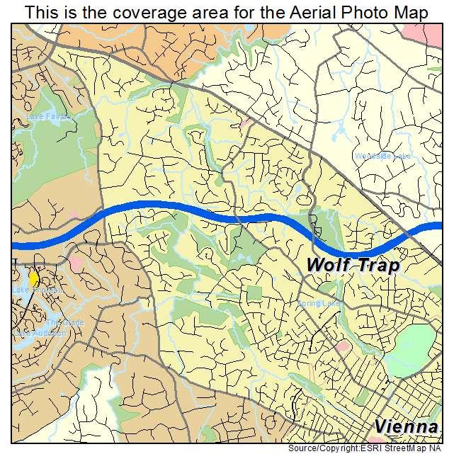 Wolf Trap, VA location map