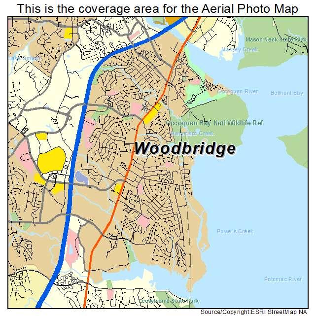 aerial photography map of woodbridge va virginia. Black Bedroom Furniture Sets. Home Design Ideas