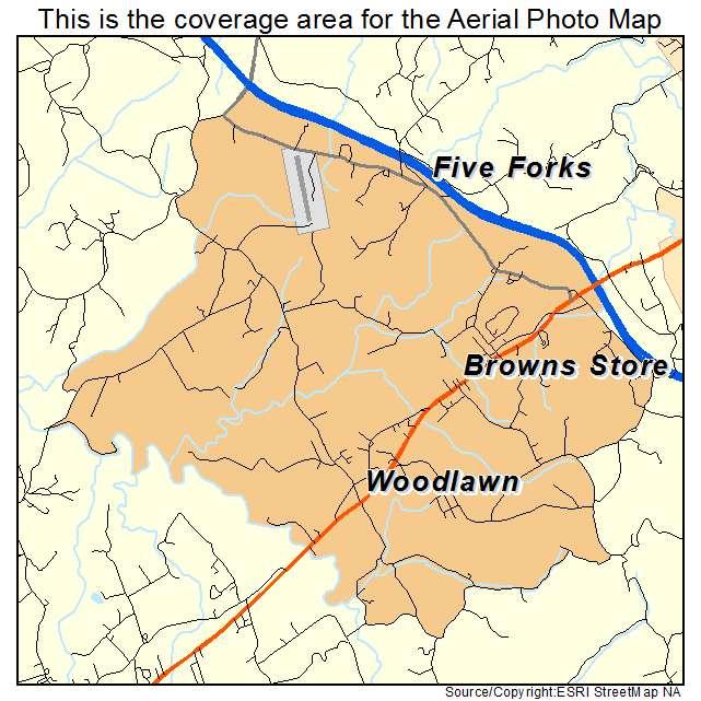 Woodlawn, VA location map