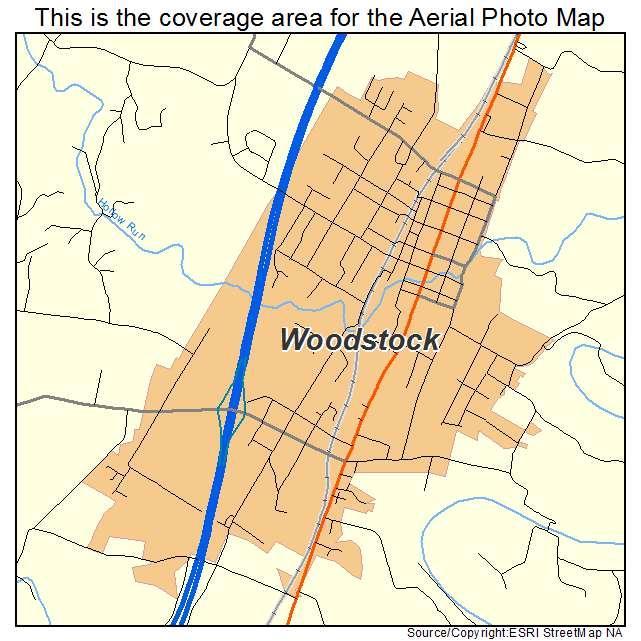 Woodstock, VA location map