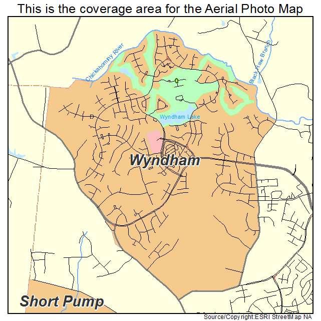 Wyndham, VA location map
