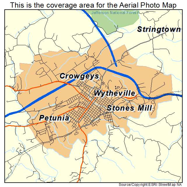 Wytheville, VA location map