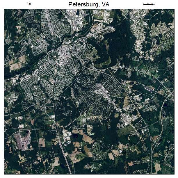 Petersburg, VA air photo map