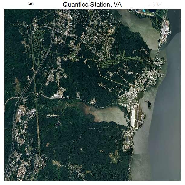 Quantico Station, VA air photo map