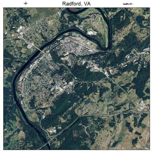 Radford, VA air photo map