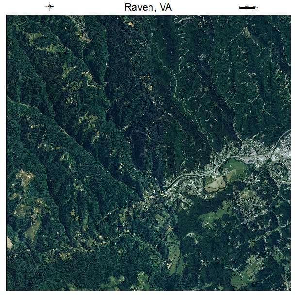 Raven, VA air photo map