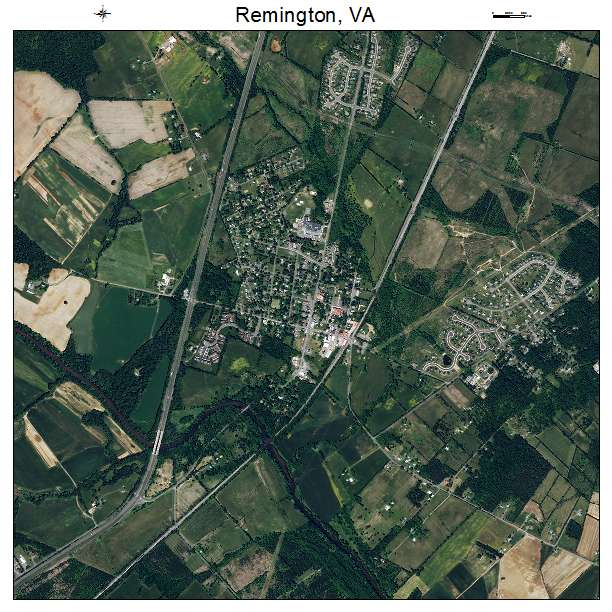 Remington, VA air photo map