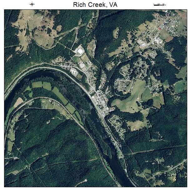 Rich Creek, VA air photo map