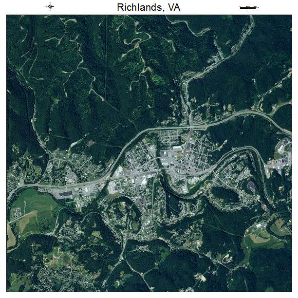 Richlands, VA air photo map