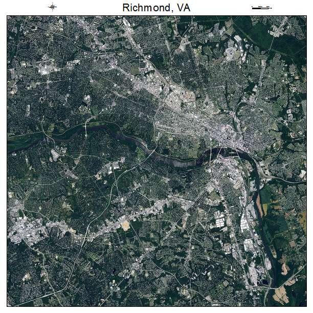 Richmond, VA air photo map