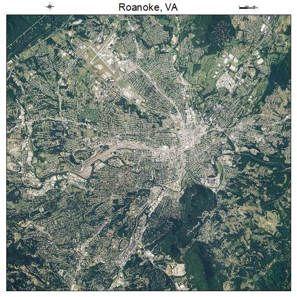 Roanoke, VA air photo map