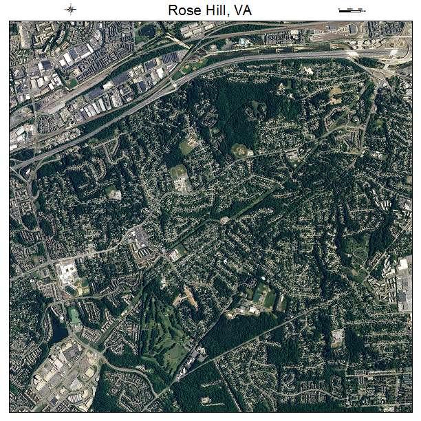 Rose Hill, VA air photo map