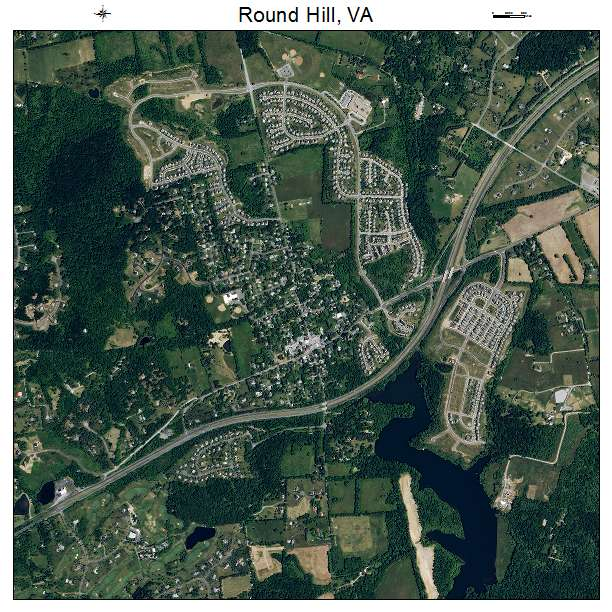 Round Hill, VA air photo map