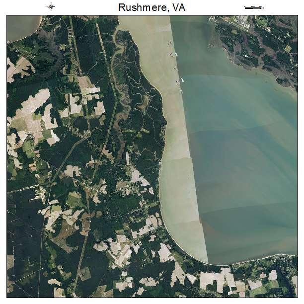 Rushmere, VA air photo map