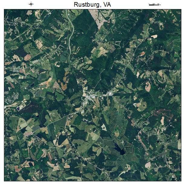 Rustburg, VA air photo map