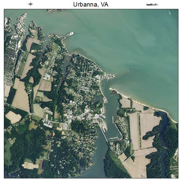 Urbanna, VA air photo map