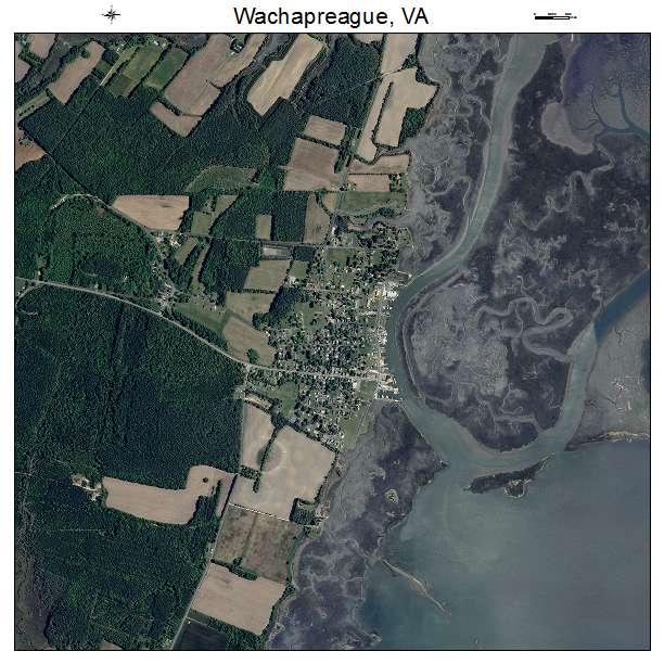 Wachapreague, VA air photo map