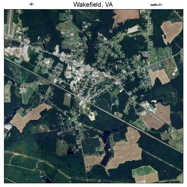Wakefield, VA air photo map