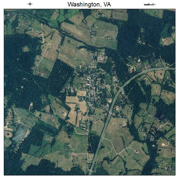 Washington, VA air photo map