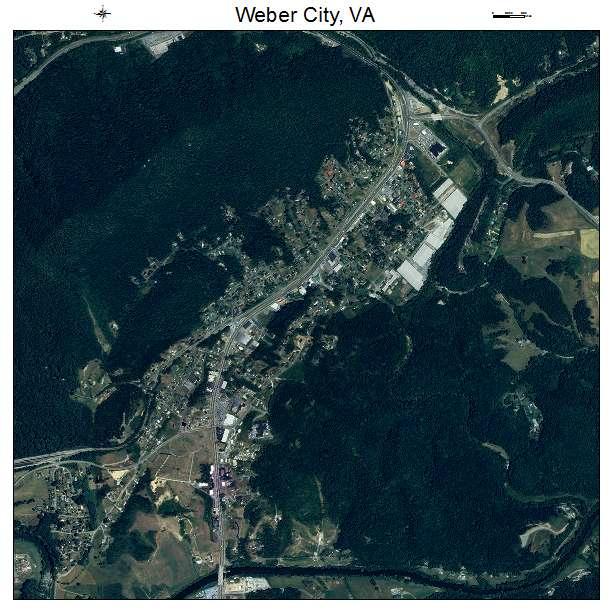Weber City, VA air photo map