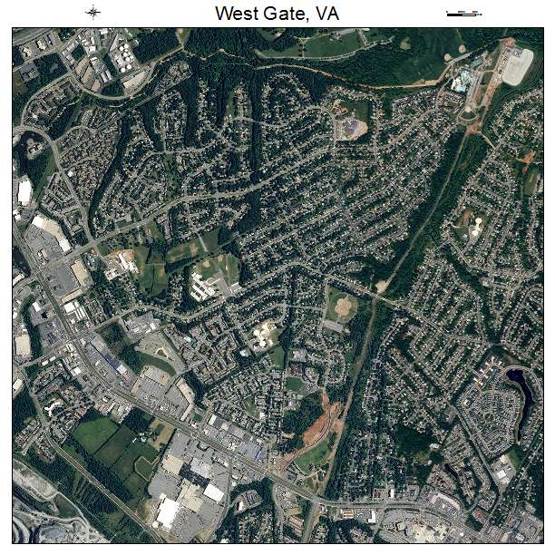 West Gate, VA air photo map