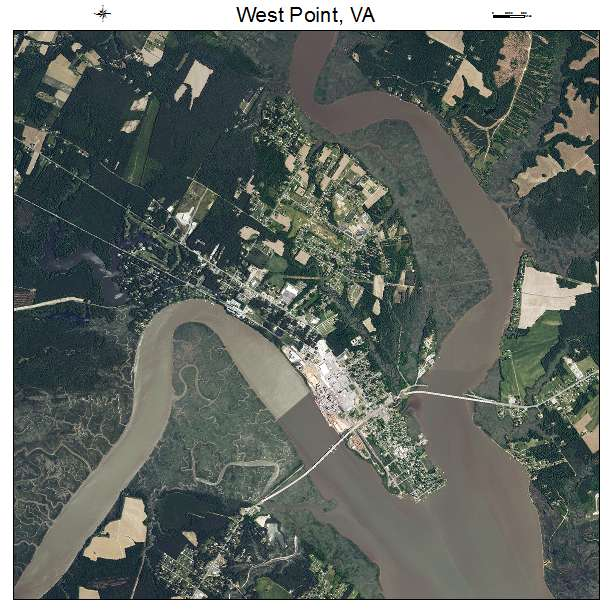West Point, VA air photo map