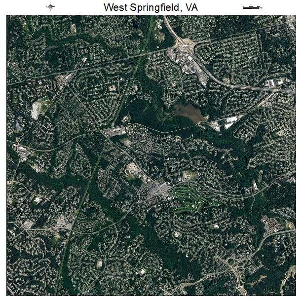 West Springfield, VA air photo map