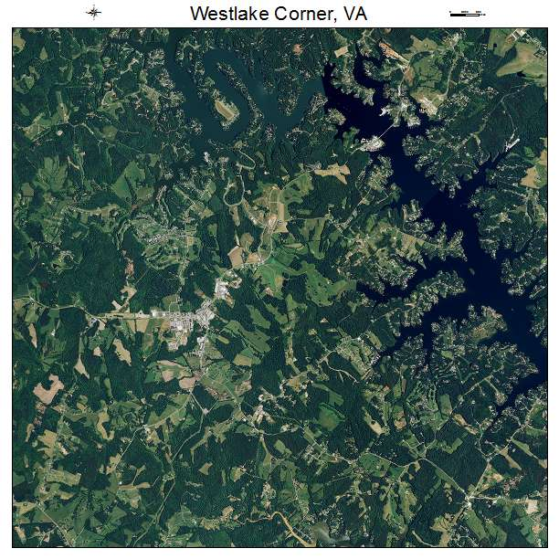 Westlake Corner, VA air photo map