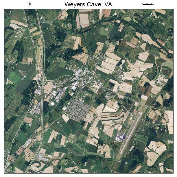 Weyers Cave, VA air photo map