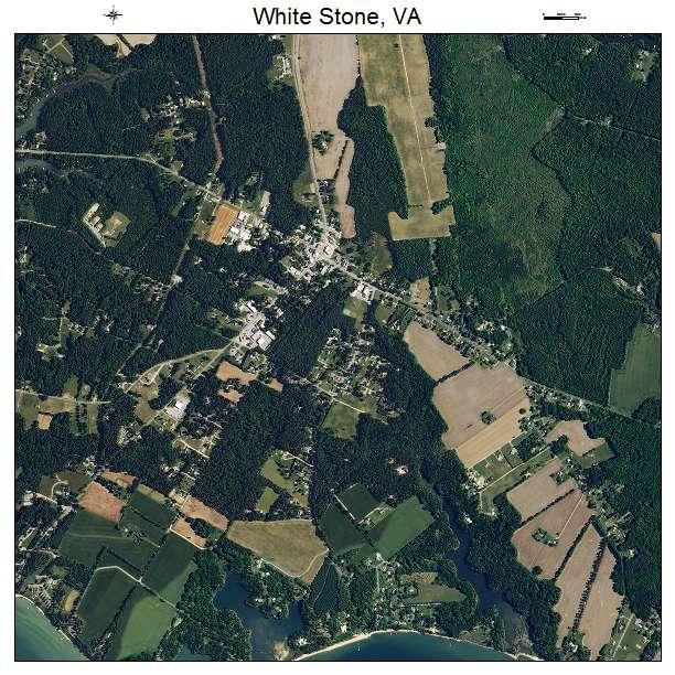 White Stone, VA air photo map