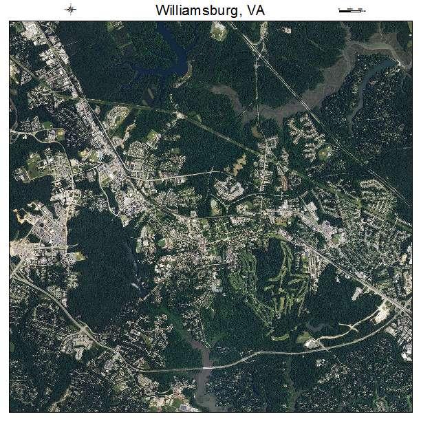 Williamsburg, VA air photo map