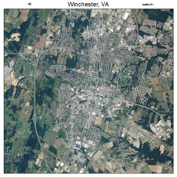 Winchester, VA air photo map
