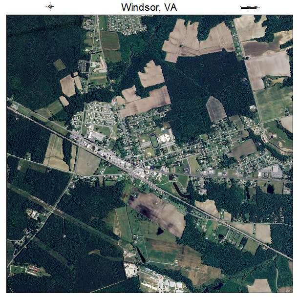 Windsor, VA air photo map
