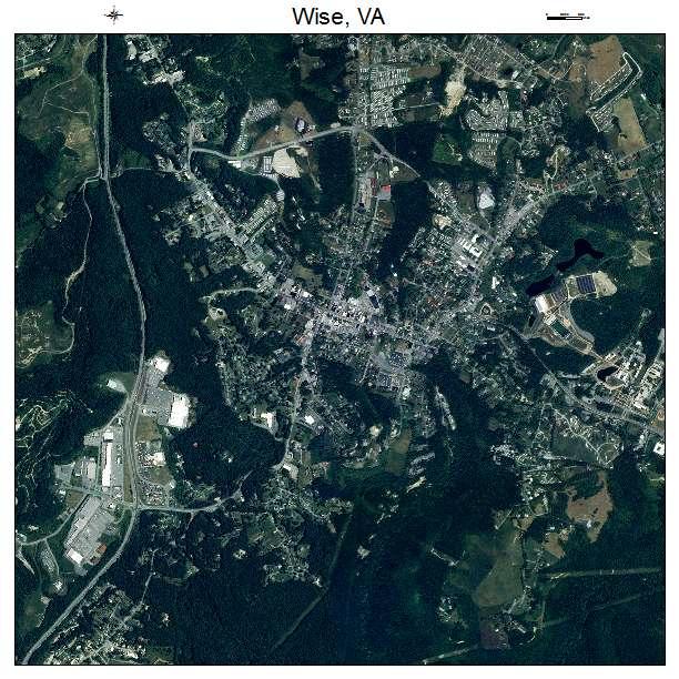 Wise, VA air photo map