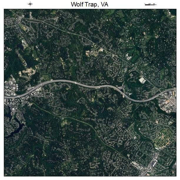 Wolf Trap, VA air photo map