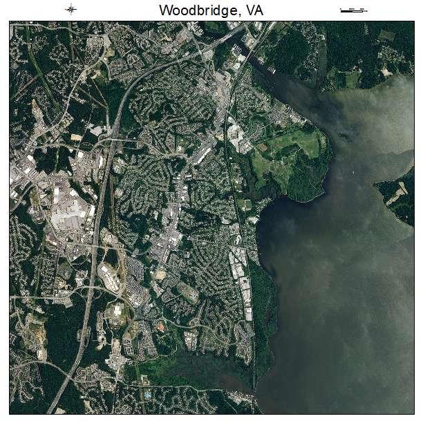 Woodbridge, VA air photo map