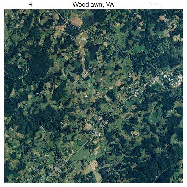 Woodlawn, VA air photo map