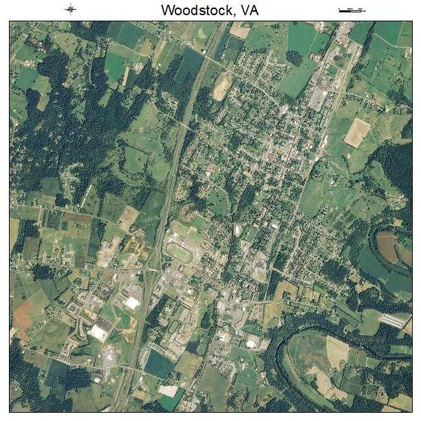 Woodstock, VA air photo map