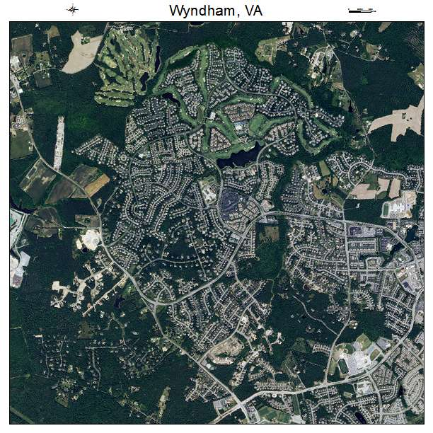 Wyndham, VA air photo map