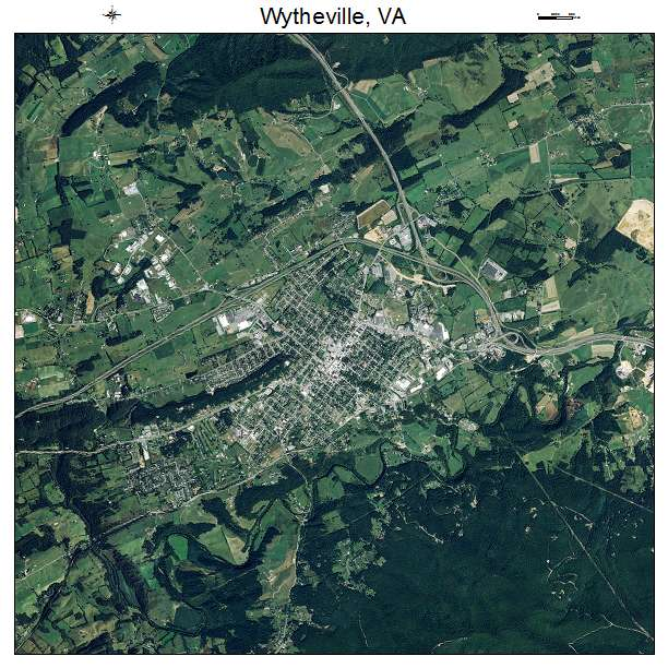 Wytheville, VA air photo map