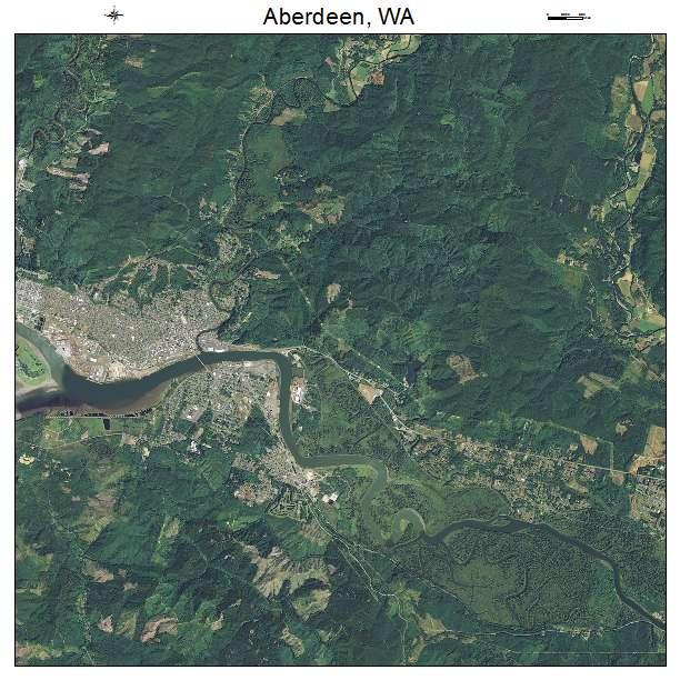 Aberdeen, WA air photo map